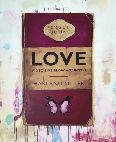 Harland Miller, 'Love, A Decisive Blow Against If - Working Proof', 2012