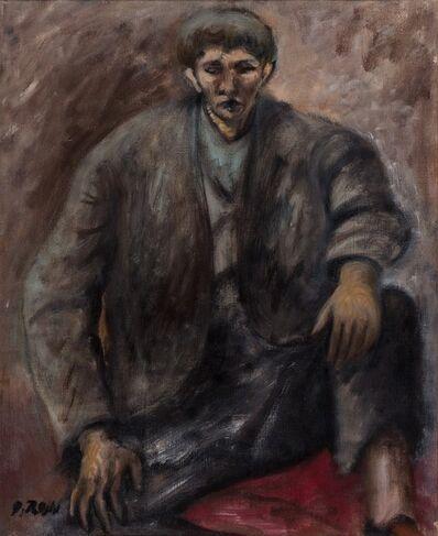 Ottone Rosai, 'Seated man'