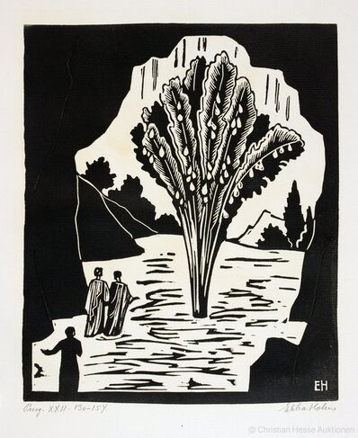 Ebba Holm, 'THE COMPLETE SUITE OF 107 SIGNED RELIEF PRINTS (mainly woodcuts, but also a few linoleum cuts) for Dante's Guddommelige Komedie (Divine Comedy)', 1923-1928