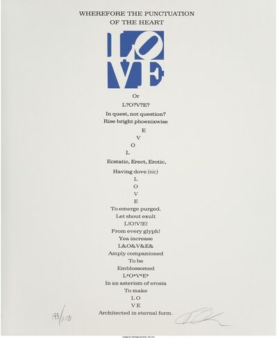 Robert Indiana, 'The Book of Love Poem - Wherefore the Punctuation of the Heart - II', 1996
