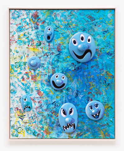 Kenny Scharf, 'Face Facts #4', 2014