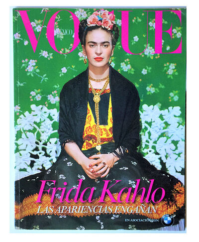 "Frida Kahlo, '""'Frida Kaahlo- Las Apariencias Enganan""', VOGUE Mexico (Special Edition), Issue Devoted to the Exhibition at the Frida Kahllo Museum.', 2012"