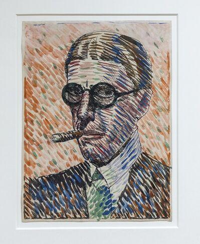Joaquín Torres-García, 'Hombre con puro', 1921
