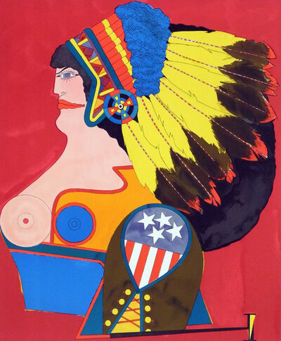 Richard Lindner, 'Miss American Indian (from the 'After Noon' Portfolio)', 1969