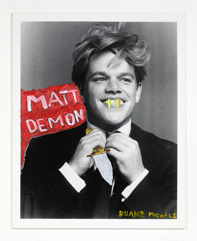 Duane Michals, 'Matt Demon ', 2019