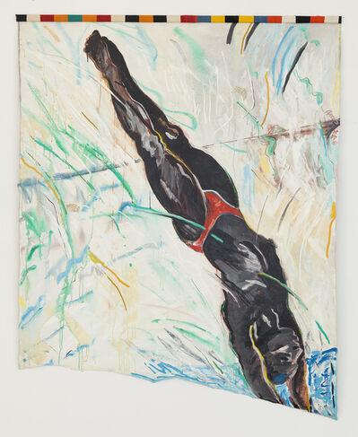 Emma Amos, 'Diagonal Diver', 1985