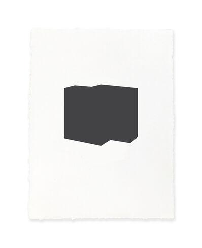 Jeff Kellar, 'white w/black 3', 2019