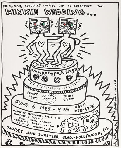 Keith Haring, 'The Winkie Wedding Poster', 1985