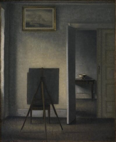 Vilhelm Hammershøi, 'Interior with the Artist's Easel', 1910