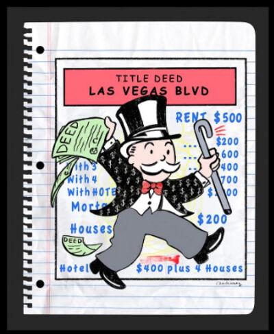 Nelson De La Nuez, 'Nelson De La Nuez, Title Deed: Las Vegas Mixed Media Oil Pastel Sketch', 2019