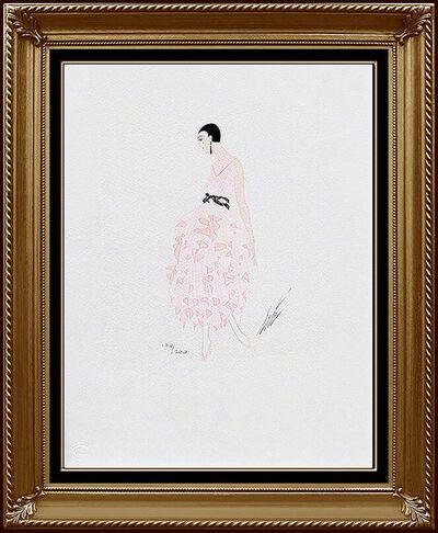 Erté (Romain de Tirtoff), 'ERTE Color Lithograph Original Art Deco Dress Costume Design Signed Art Tirtoff', 1970-1989