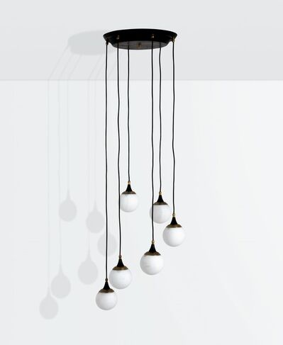 Stilnovo, 'a hanging lamp with a lacquered metal and anodised aluminum structure', ca. 1950