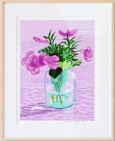 David Hockney, ''Untitled, 329' Lilac, iPad Drawing'