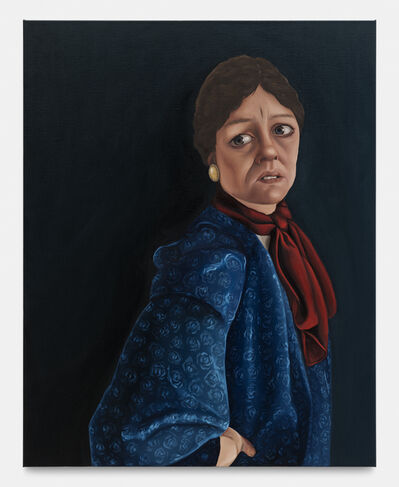 Madeleine Pfull, 'Blue Shirt, Red Scarf I', 2020