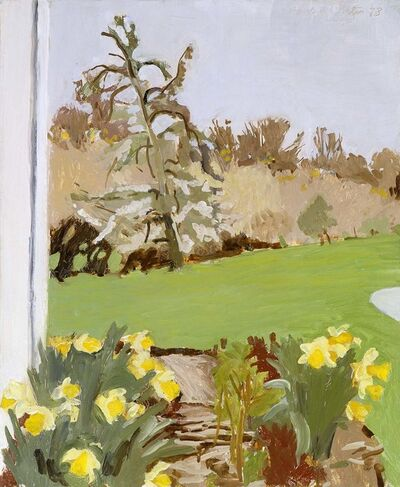Fairfield Porter, 'Daffodils and Pear Tree', 1973