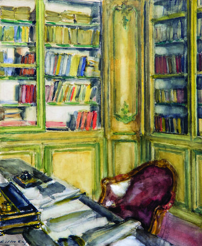 Walter Gay, 'Library at Château du Bréau', Early 20th Century