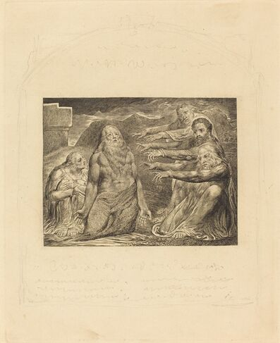 William Blake, 'Job Rebuked by His Friends', 1825
