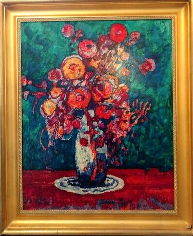 Donald Roy Purdy, 'Vibrant Floral Still Life Painting in the Modernist Style', 20th Century