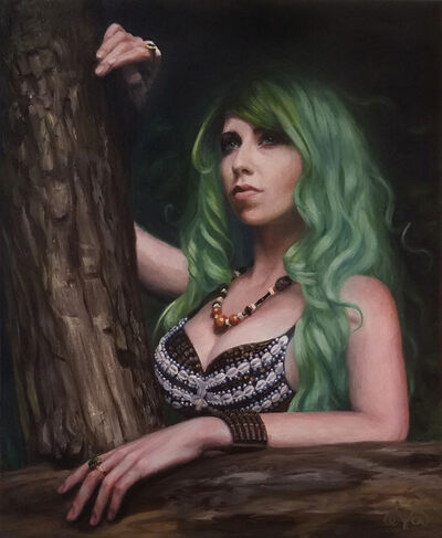 Eva Evangelista, 'Forest Girl', ca. 2017