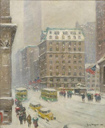 Guy Carleton Wiggins, 'Snow Scene on 5th Avenue from 42nd Street', ca. 1930