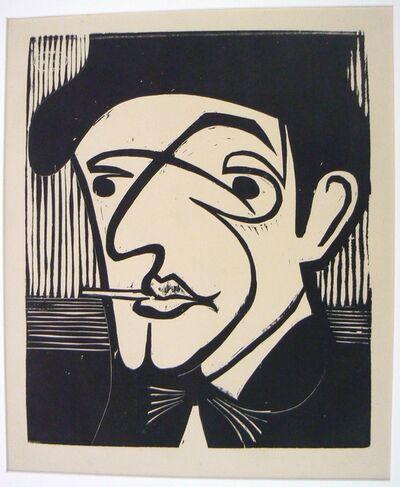 Ernst Ludwig Kirchner, 'Head of Alexander Mülleg', 1930