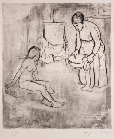 Suzanne Valadon, 'Grandmère et Louise Nue Assise à Terre', 1910