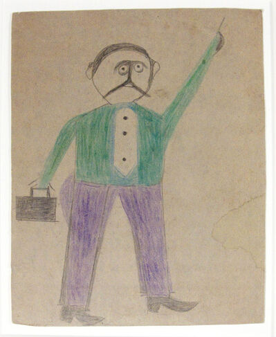 "Bill Traylor, 'Mexican Man (""He Just Come to Town"")', 1939-1942"