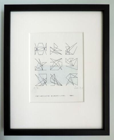 Vera Molnar, 'Variations aleatoires', 1981