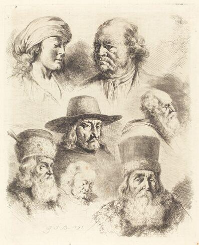 Jean-Jacques de Boissieu, 'Seven Studies of Heads', 1793