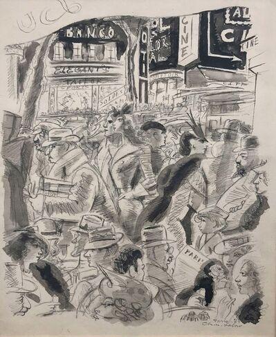 Charles la Borde, 'Paris Cafe', 1937