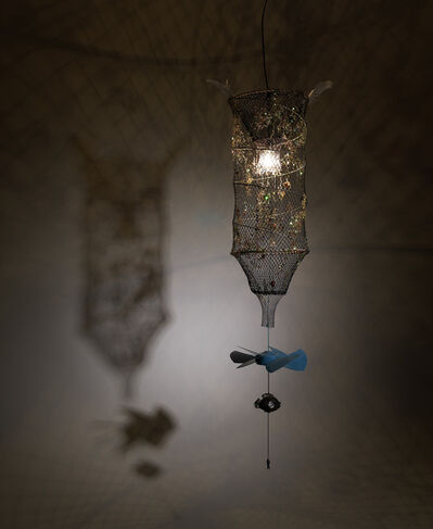 Yoo La Shin, 'Afflicted Teeth Chandelier-Fishing Net', 2009