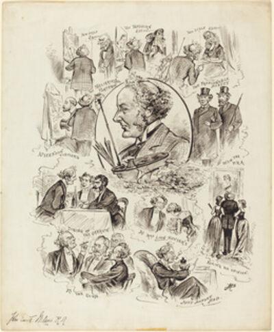 Max Beerbohm, 'Caricatures of John Everett Millais', 1881