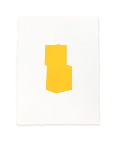 Jeff Kellar, 'white w/yellow 3', 2018