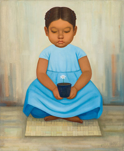 Gustavo Montoya, 'Girl in Blue Dress', 20th/21st Century