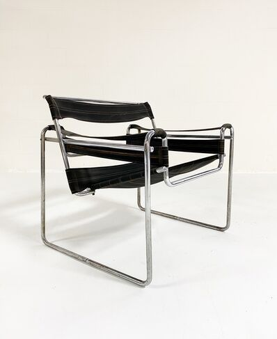 "Marcel Breuer, 'Early Canvas Model B3 ""Wassily"" Chair, Black Eisengarn', 1927"