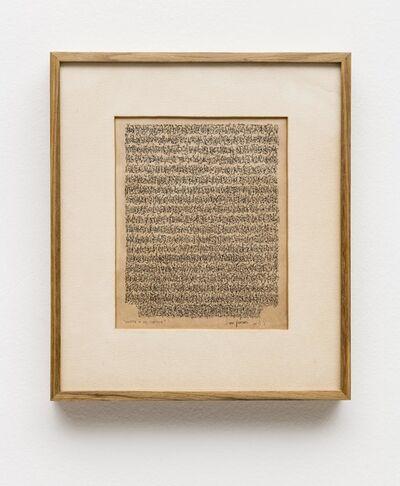 León Ferrari, 'Carta a un Poético', 1961