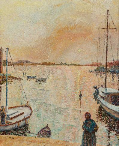 Yvonne Canu, 'Port de Midi au Soleil Couchant'