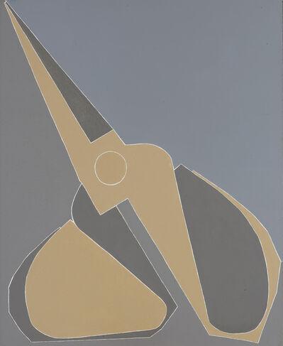 Mao Xuhui 毛旭辉, 'Titled yellow-grey scissors', 2007
