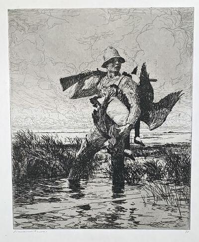 Frank Weston Benson, 'MARSH GUNNER', 1918