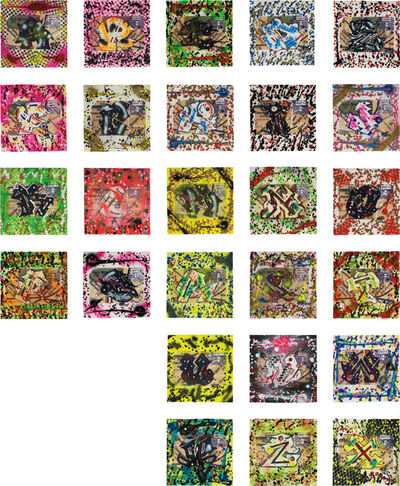 Rammellzee, 'Wild Style Letter A, B, C, D, E….(26 paintings from letter A to Z)', 2008