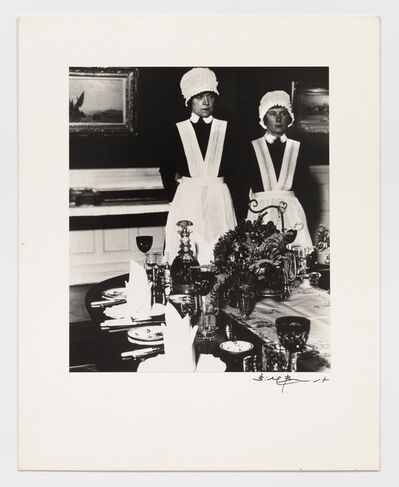 Bill Brandt, 'Parlourmaid and under-parlourmaid ready to serve dinner', 1930s
