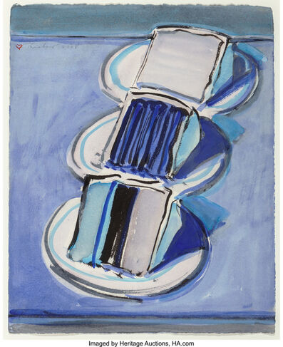 Wayne Thiebaud, 'Three Cake Slices', 2008