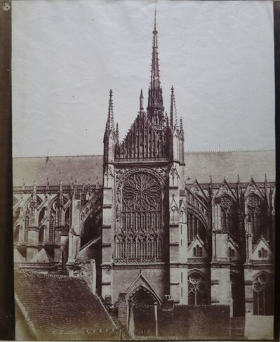 Édouard Baldus, 'Rosace de la Cathedrale, Amiens', 1855