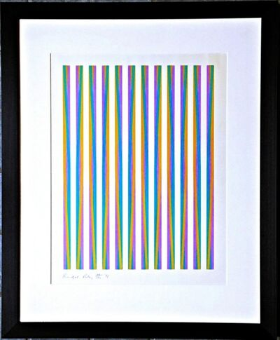 Bridget Riley, 'Untitled, from Conspiracy: The Artist as Witness (Schubert, 15)', 1971