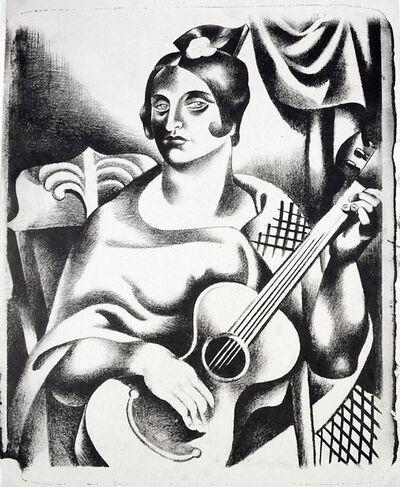 Jan Matulka, 'Spanish Woman with Guitar', 1925