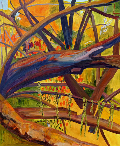 Yvonne Troxell Lamothe, 'Wind Storm, Willows Toppled from Wetlands, two', 2020