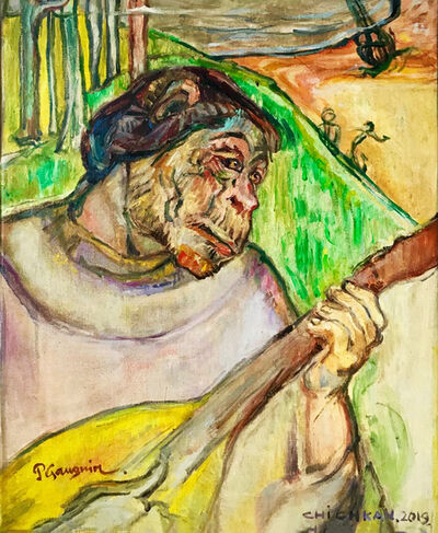 Ilya Chichkan, 'Homage to Paul Gauguin «Self Portrait with Mandolin» ', 2019