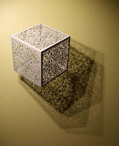 Anila Quayyum Agha, 'Itinerant Shadows - White (Caged Flowers)', 2019