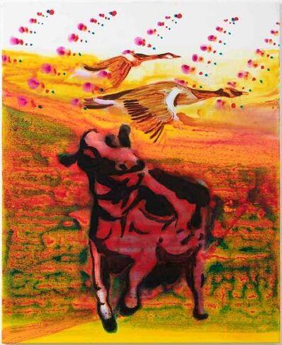 John Kørner, 'Cow in red', 2019