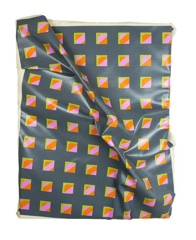 "Timothy Harding, '40"" x 32"" on 34"" x 26"" (Pink and Orange under Gray)', 2017"
